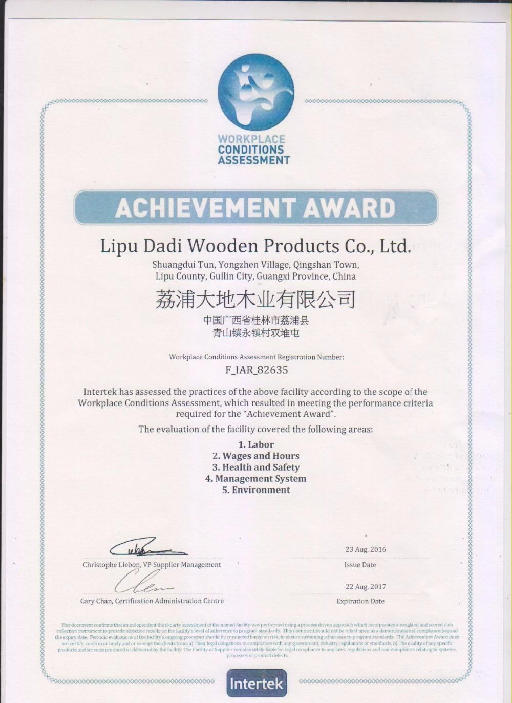 certificado WCA