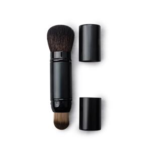 Double End Retractable Powder Brushe With Systhetic Hair